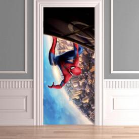 Stickere 3D pentru uși, Omul păianjen , 1 foaie de 80 x 200 cm