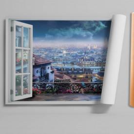 Stickere pentru pereți, Fereastra cu vedere spre orașul fermecat