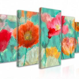 Tablou modular, Flori multicolore
