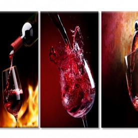 Tablou modular, Pahare cu vin