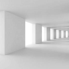 Fototapet 3D, Coridorul cu pereți albi