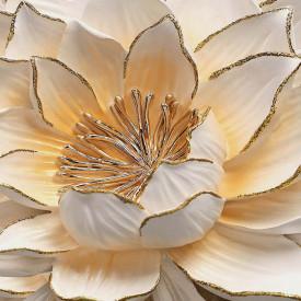 Fototapet 3D, Floare albă