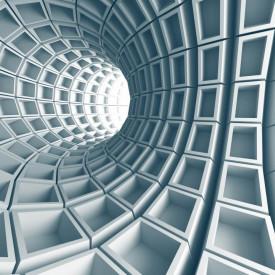 Fototapet 3D, Tunelul albastru