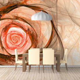 Fototapet Abstract, Trandafir bej