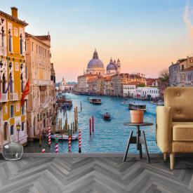 Fototapet, Apus de soare frumos în Veneția