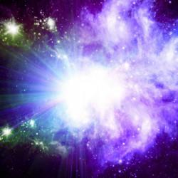 Fototapet, Culori deschise în cosmos