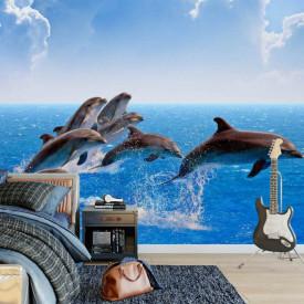 Fototapet, Delfinii în ocean