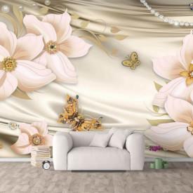 Fototapet, Flori roz pe un fundal frumos