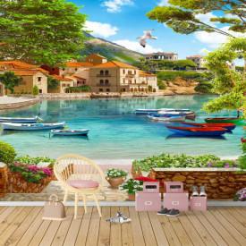Fototapet Fresco, Dimineața în paradis cu o priveliște minunată