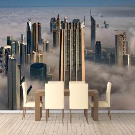Fototapet Orase, Orașul acoperit de ceață