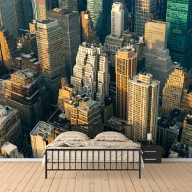 Fototapet, Priveliște de sus asupra orașului
