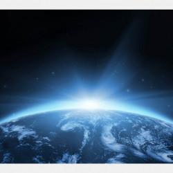 Fototapet, Răsaritul de soare în Cosmos