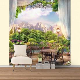 Fototapet, Un balcon confortabil cu o priveliște frumoasă