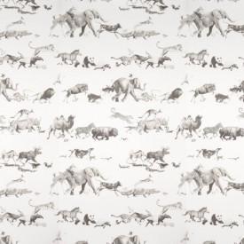 Fototapete, Alergarea animalelor africane pe un fundal alb.