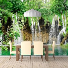 Fototapete, Frumos parc verde cu cascadă