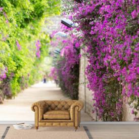 Fototapete, Gard acoperit de flori