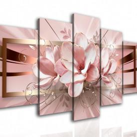 Multicanvas, Floarea roz abstractă