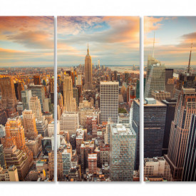 Multicanvas, New York-ul de seara.
