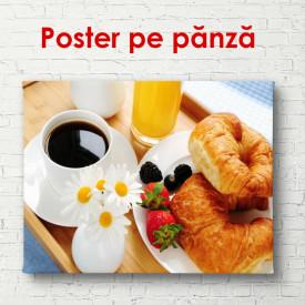 Poster, Cafea cu croissant