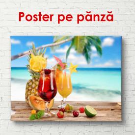 Poster, Cocktailuri cu fructe tropicale