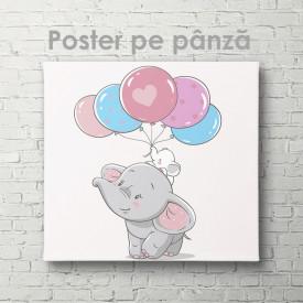 Poster, Elefant cu baloane