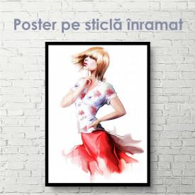 Poster, Fată gânditoare