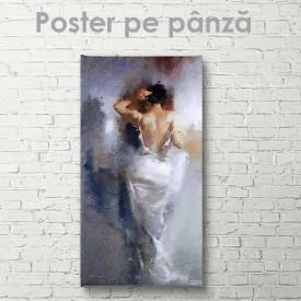 Poster, Fată în rochie albă