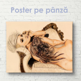 Poster, Fată plină de farmec care pozează