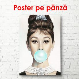 Poster, Fată suflând un balon