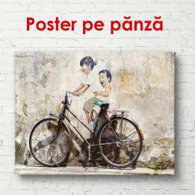 Poster, Fotografia unui copil pe bicicletă