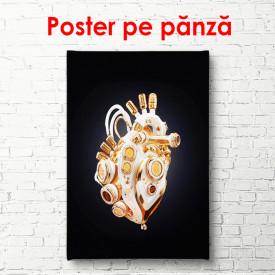 Poster, Inimă abstractă pe fundalul negru