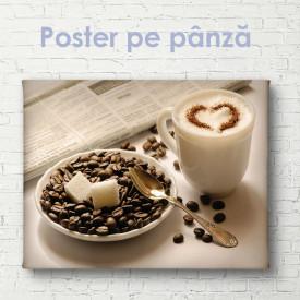 Poster, Latte cu ornament în formă de inimă