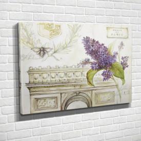 Poster, Liliacul lila pe fundalul arcului