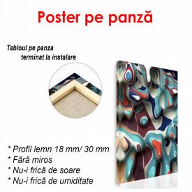 Poster, Pete abstracte albastre