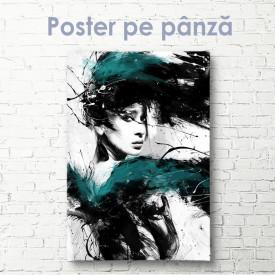 Poster, Pictează o fată în culori reci