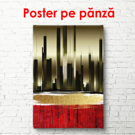 Poster, Siluetă de oraș abstract