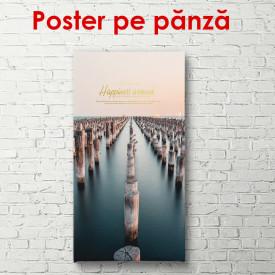 Poster, Stâlpi de lemn în apă