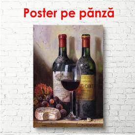 Poster, Sticlele de vin pe masă