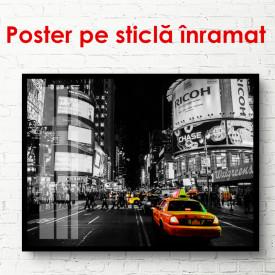 Poster, Taxi galben în orașul nocturn