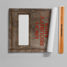 Stickere 3D pentru uși, Zona de securitate , 1 foaie de 80 x 200 cm