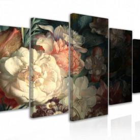 Tablou modular, Flori în stil naturmort