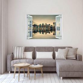 Fereastră falșă, Fereastră 3D cu vederea spre orașul minunilor