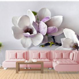 Fototapet 3D, O crenguță cu flori delicate
