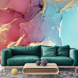 Fototapet, Arta fluidă de culori aprinse