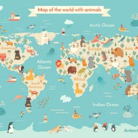 Fototapet, Atlasul cu animale
