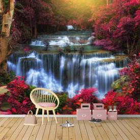 Fototapet, Cascada primăvara