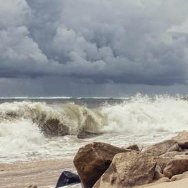 Fototapet, Dimineața la mare