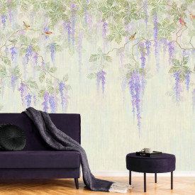 Fototapet, Flori violete delicate