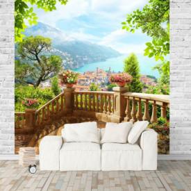 Fototapet Fresco, Dimineață frumoasa în grădină