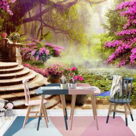 Fototapet Fresco, Fototapete cu un liliac în grădină